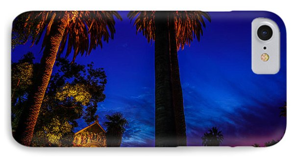 Stanford University Memorial Church At Sunset IPhone 7 Case by Scott McGuire