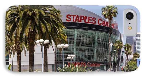 Staples Center In Los Angeles California Phone Case by Paul Velgos