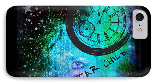 Star Child - Time To Go Home IPhone Case by Absinthe Art By Michelle LeAnn Scott