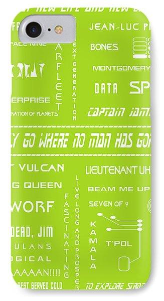 Star Trek Remembered In Green Phone Case by Georgia Fowler