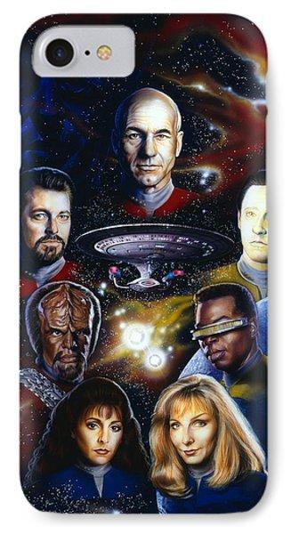 Star Trek Tng IPhone Case by Tim  Scoggins