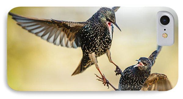 Starling Aerial Battle IPhone 7 Case by Izzy Standbridge