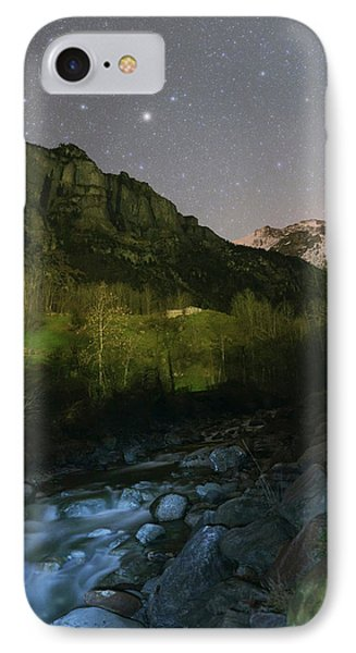 Stars Over Lauterbrunnen IPhone Case by Babak Tafreshi