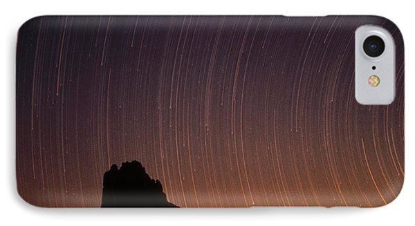 Startrails Over Shiprock In The Four Phone Case by Tim Fitzharris