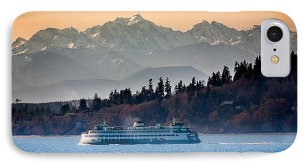 State Ferry And The Olympics IPhone Case by Inge Johnsson