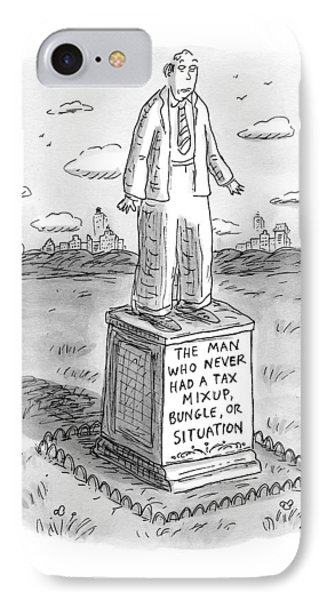 Statue Of A Man IPhone Case by Roz Chast