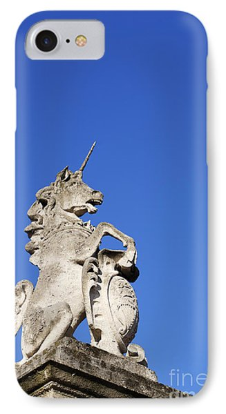Statue Of A Unicorn On The Walls Of Buckingham Palace In London England IPhone Case by Robert Preston