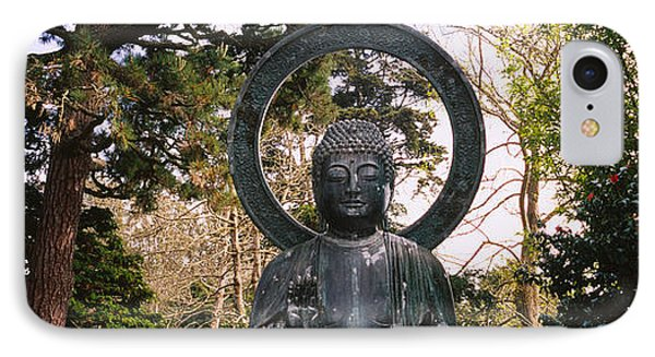 Statue Of Buddha In A Park, Japanese IPhone Case by Panoramic Images