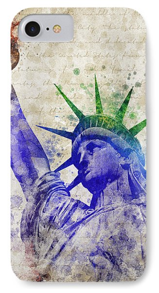 Statue Of Liberty IPhone 7 Case by Aged Pixel