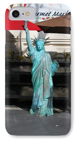 Statue Of Liberty At The Market Phone Case by Dan Sproul
