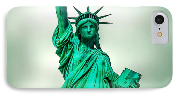 Statue Of Liberty IPhone Case by Az Jackson