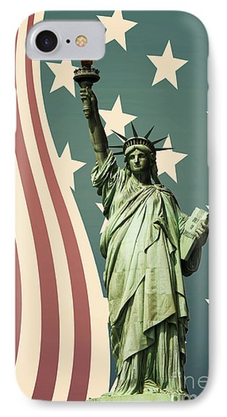 Statue Of Liberty IPhone Case by Juli Scalzi