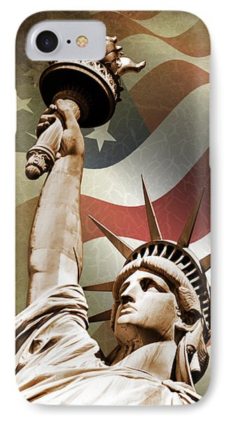 Statue Of Liberty IPhone 7 Case by Mark Rogan