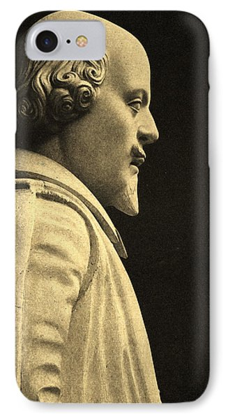 Statue Of William Shakespeare IPhone Case by English School
