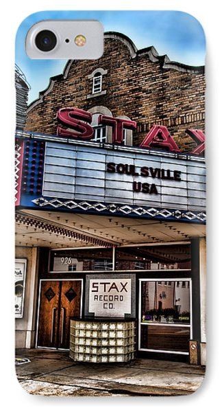 Stax Records IPhone 7 Case by Stephen Stookey