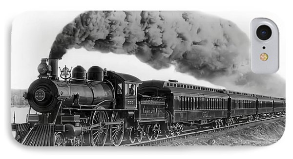 Steam Locomotive No. 999 - C. 1893 IPhone 7 Case by Daniel Hagerman