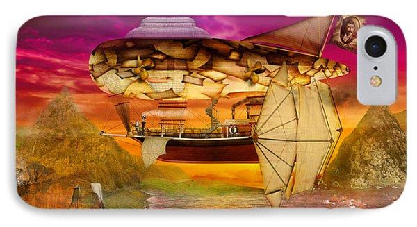 Steampunk - Blimp - Everlasting Wonder Phone Case by Mike Savad