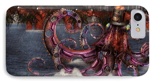 Steampunk - Enteroctopus Magnificus Roboticus Phone Case by Mike Savad
