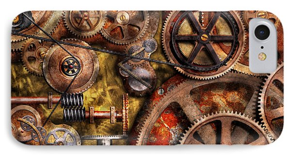 Steampunk - Gears - Inner Workings Phone Case by Mike Savad