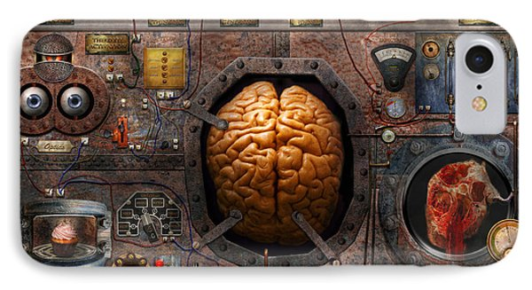 Steampunk - Information Overload Phone Case by Mike Savad