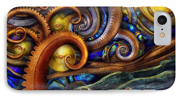 Steampunk - Starry Night IPhone Case by Mike Savad