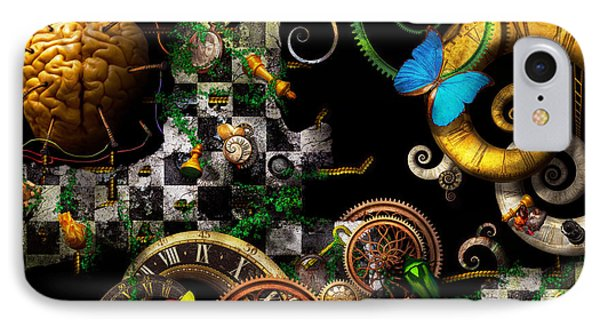 Steampunk - Surreal - Mind Games Phone Case by Mike Savad