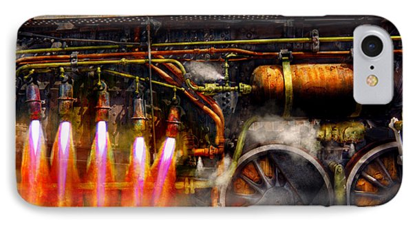 Steampunk - Train - The Super Express  Phone Case by Mike Savad