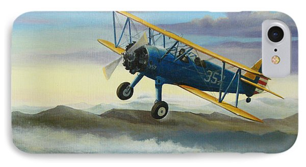 Stearman Biplane IPhone 7 Case by Stuart Swartz
