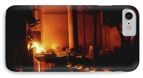 Steel Being Melted For Conversion IPhone Case by Dorling Kindersley/uig