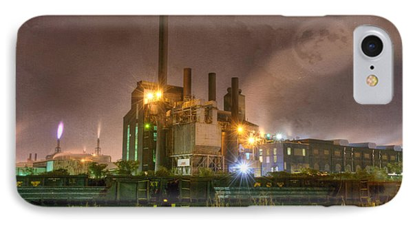 Steel Mill At Night IPhone Case by Juli Scalzi