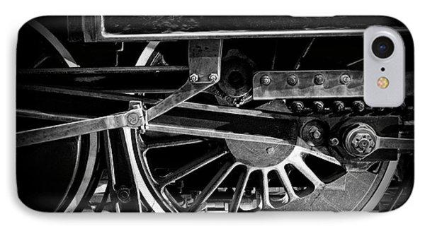 Steel Wheels - Steam Train Drivers IPhone Case by Edward Fielding