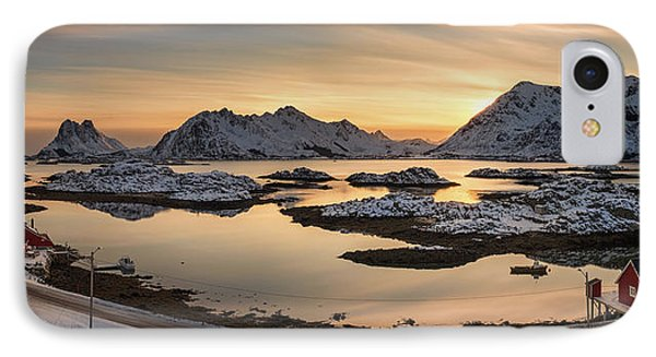 Steinefjord At Sunset, Lofoten IPhone Case by Panoramic Images