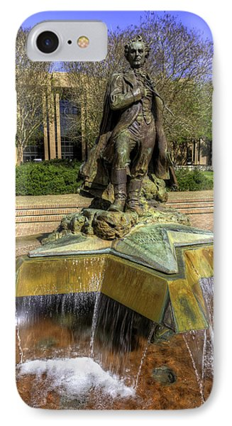 Stephen F. Austin Statue IPhone Case by Tim Stanley