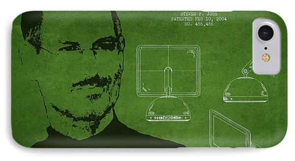 Steve Jobs Imac  Patent - Green IPhone Case by Aged Pixel