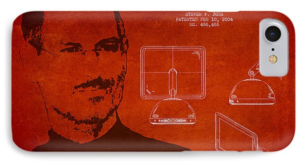 Steve Jobs Imac  Patent - Red IPhone Case by Aged Pixel