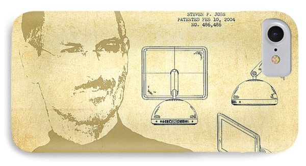 Steve Jobs Imac  Patent - Vintage IPhone Case by Aged Pixel
