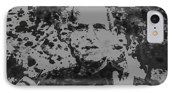 Steve Jobs Paint Splatter 3b IPhone Case by Brian Reaves