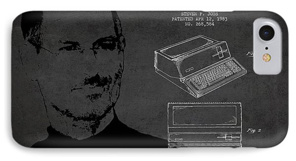 Steve Jobs Personal Computer Patent - Dark IPhone Case by Aged Pixel