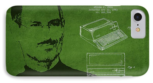 Steve Jobs Personal Computer Patent - Green IPhone Case by Aged Pixel