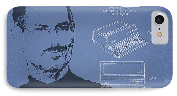Steve Jobs Personal Computer Patent - Light Blue IPhone Case by Aged Pixel