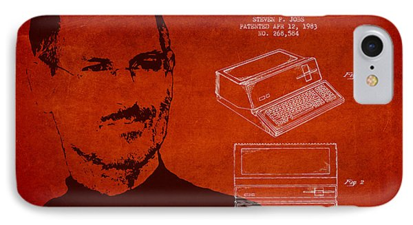 Steve Jobs Personal Computer Patent - Red IPhone Case by Aged Pixel