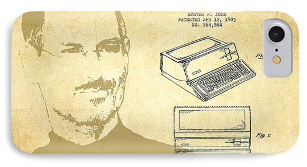 Steve Jobs Personal Computer Patent - Vintage IPhone Case by Aged Pixel