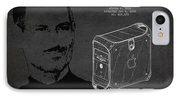 Steve Jobs Power Mac Patent - Dark IPhone Case by Aged Pixel