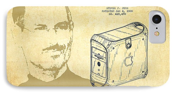 Steve Jobs Power Mac Patent - Vintage IPhone Case by Aged Pixel