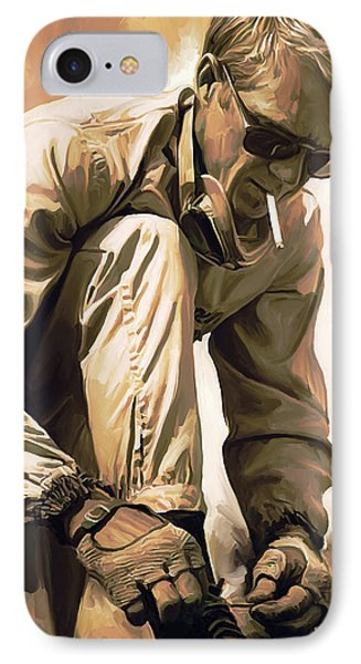 Steve Mcqueen Artwork IPhone Case by Sheraz A