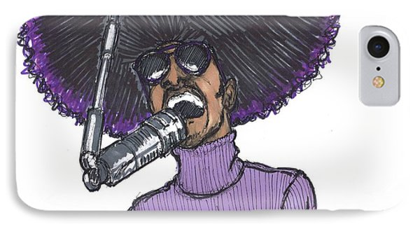 Stevie Afro IPhone Case by SKIP Smith