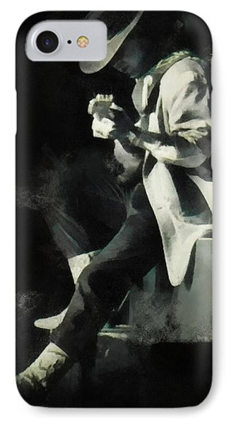 Stevie Ray IPhone Case by Paulette B Wright