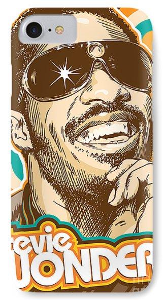 Stevie Wonder Pop Art IPhone 7 Case by Jim Zahniser