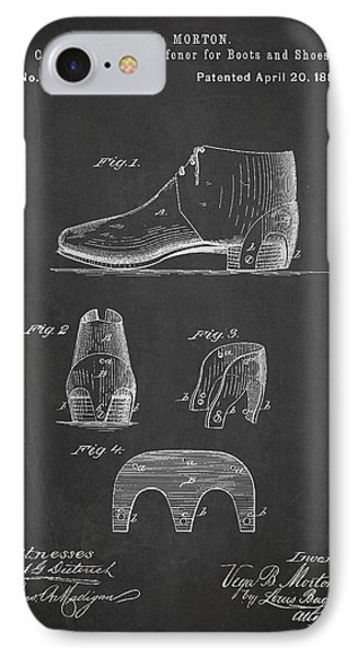 Stiffner For Boots And Shoes Patent Drawing From 1880 IPhone Case by Aged Pixel