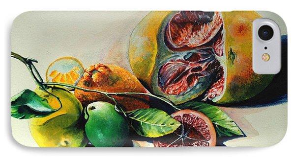 Still Life Of Citrus Phone Case by Alessandra Andrisani